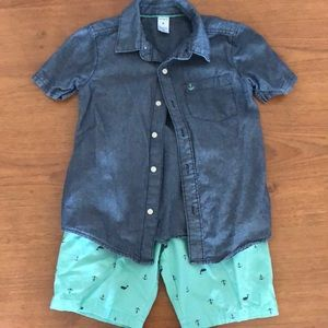 Boys Carters Shirt and Shirt Set